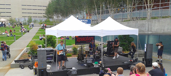 Music on the Plaza Stage