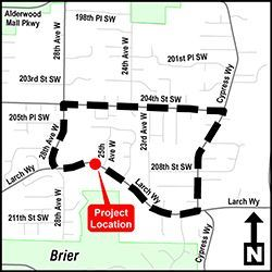 Larch Way Culvert Replacement Detour Map