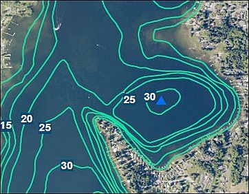 Aerial Bathymetry Map